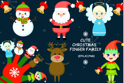 Cute Christmas Finger Family