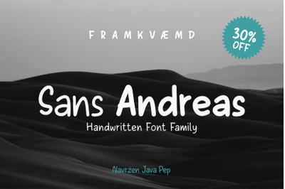 Sans Andreas // Handwritten family