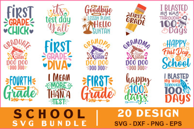 School Quotes Svg Bundle Vol-12