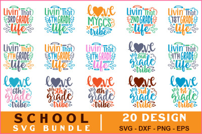 School Quotes Svg Bundle Vol-14