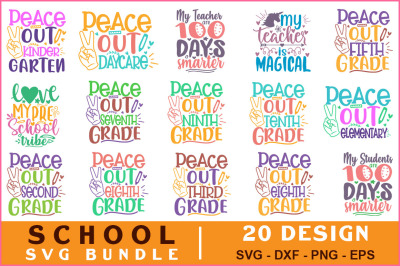 School Quotes Svg Bundle Vol-15