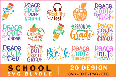 School Quotes Svg Bundle Vol-16
