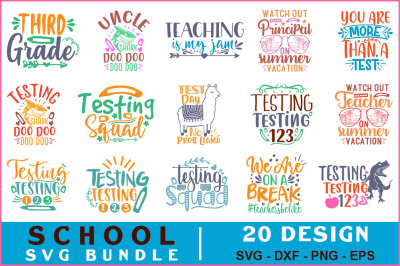 School Quotes Svg Bundle Vol-18