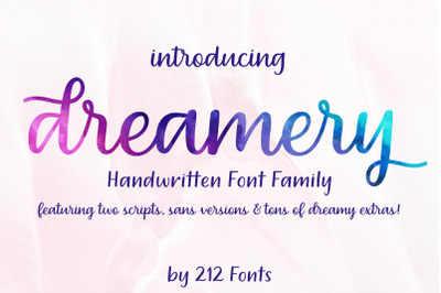 Dreamery Script and Sans Handwritten Feminine Font Trio