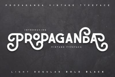 Propaganda - Vintage typeface