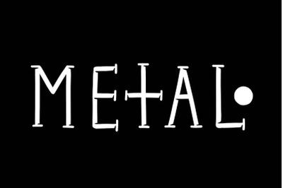 Metal typeface
