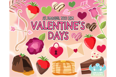 Valentines Day Clipart - Lime and Kiwi Designs