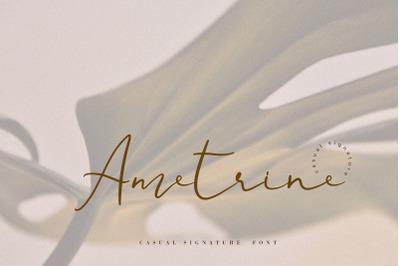 Ametrine, super-casual style font