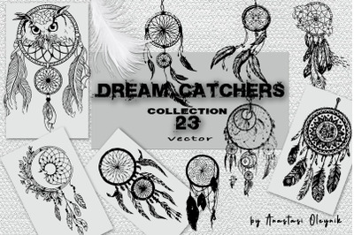 Dream catchers vector collection