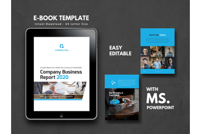 Business Report 2020 Corporate Company eBook Template
