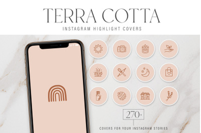 Terracotta Instagram Highlight Covers