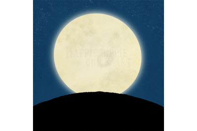 ONE Halloween 12x12 Inch Background Illustration Moon