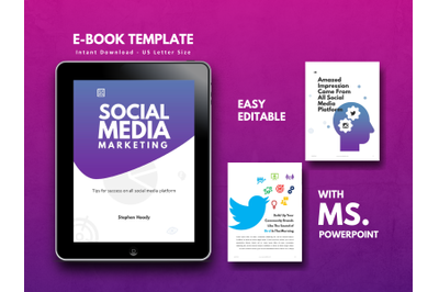 Social Media Marketing eBook Template PowerPoint