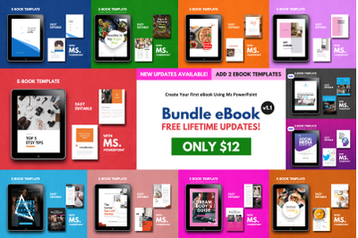 11 eBook Template Bundle PowerPoint