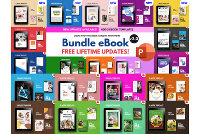 20 eBook Template Big Bundle PowerPoint v2.0