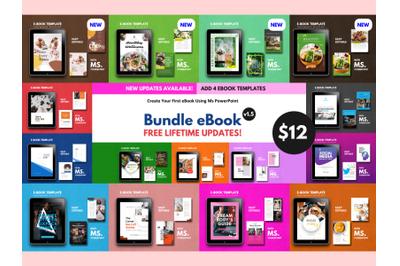 15 eBook Template Big Bundle PowerPoint