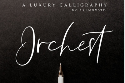 Orchest Luxury Calligraphy Font
