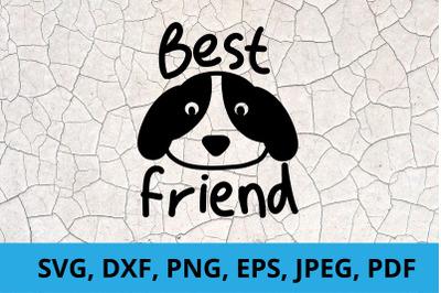 Best Friend Dog Paper Cut SVG / DXF / EPS Files