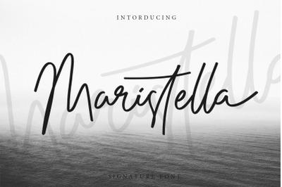 Maristella Signature Font