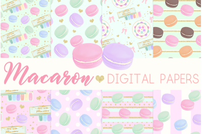Macaron Digital Papers Seamless PatternGraphic Pattern