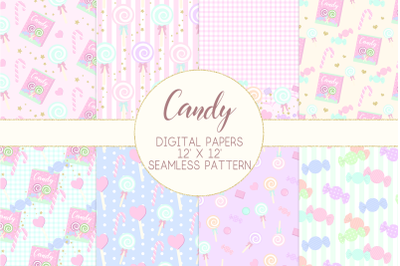 Candy Lollipop Digital PapersGraphic Pattern
