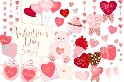 Valentine's Day Illustration ClipartGraphic Illustration