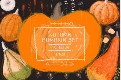 Autumn pumpkin set
