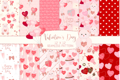 Valentine's Day Seamless Pattern Digital PapersGraphic Pattern