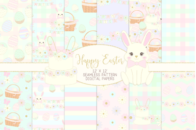 Easter Bunny Seamless Patterns Digital PapersGraphic Pattern