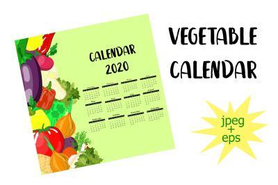 2020 vegetable calendar