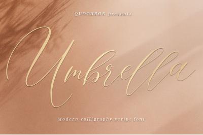 Umbrella - Script font