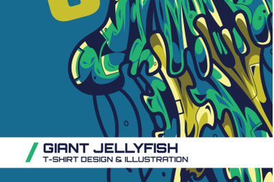 Giant Jellyfish T-Shirt Illustration