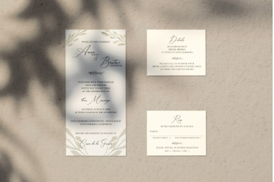 Ethereal Leaf Wedding Invitation Suite