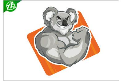 Koala muscle mascot