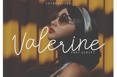 Valerine Font Script