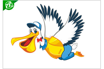 Pelican mascot