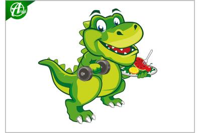 Dino nutrion mascot