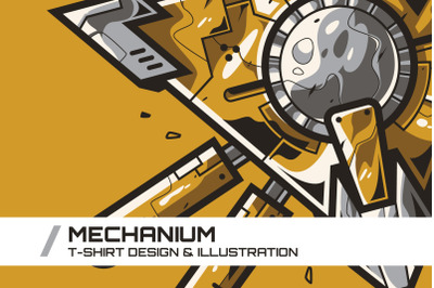 Mechanium T-Shirt Illustration