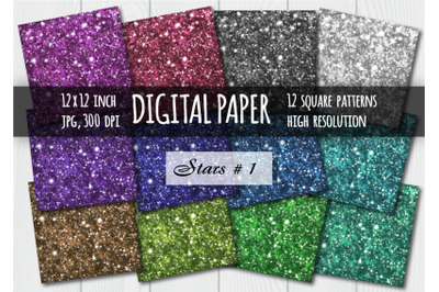 Sparkling digital paper. Galaxy background.