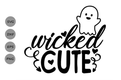 Wicked Cute Svg, Halloween Svg, Spooky Svg, Kids Halloween Svg.