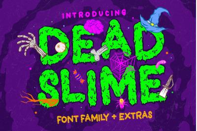 Dead Slime 6 Fonts + Extras 50 Illustrations