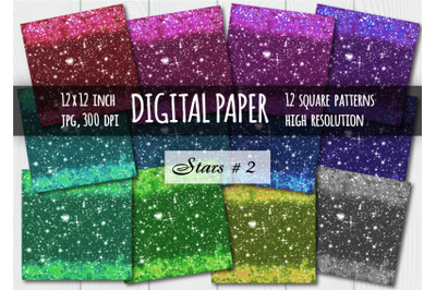 Sparkling digital paper. Galaxy background