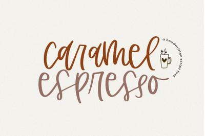 Caramel Espresso - Handwritten Script Font