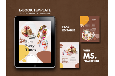 Recipe eBook Cake Bakery Template