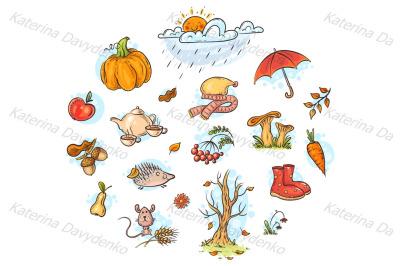 Autumn clipart set