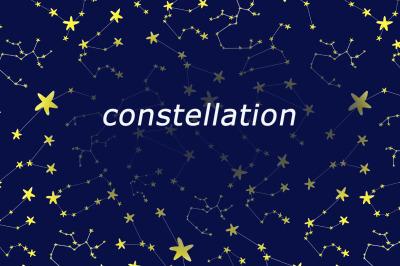 watercolor  constellation. Milky Way