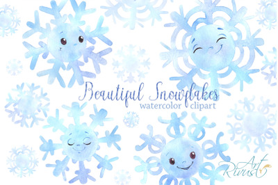 Cute snowflakes clipart PNG download. Christmas clip art. Baby shower