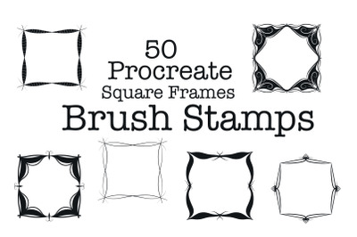 HHCD 50 Procreate Square Frames Brush Stamps