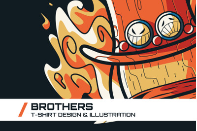 Brothers T-Shirt Illustration