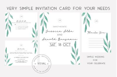 VISVAL WEDDING INVITATION